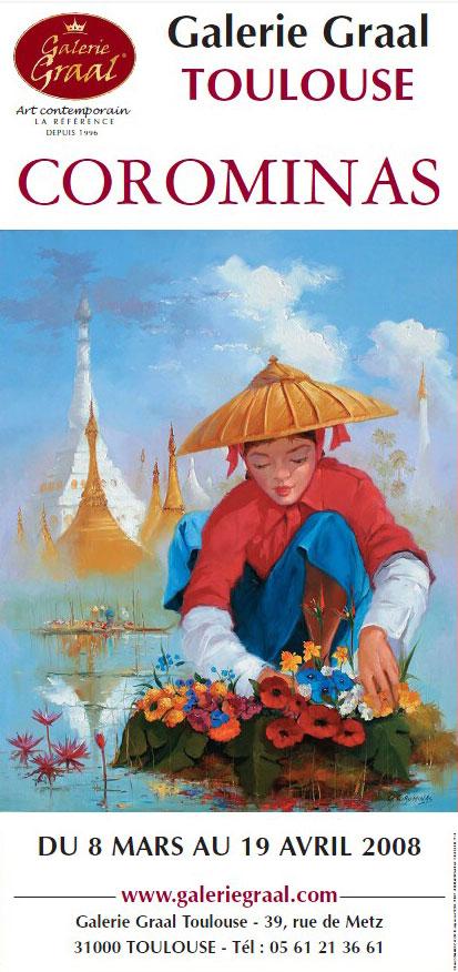 Affiche de l'exposition de peinture Georges Corominas