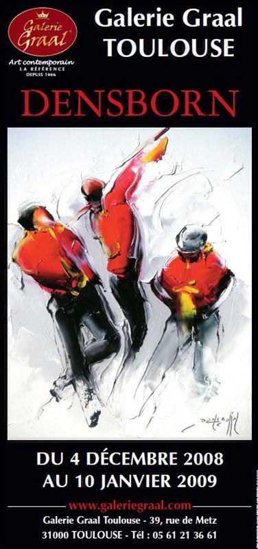 Affiche de l'exposition de peinture Daniel Densborn