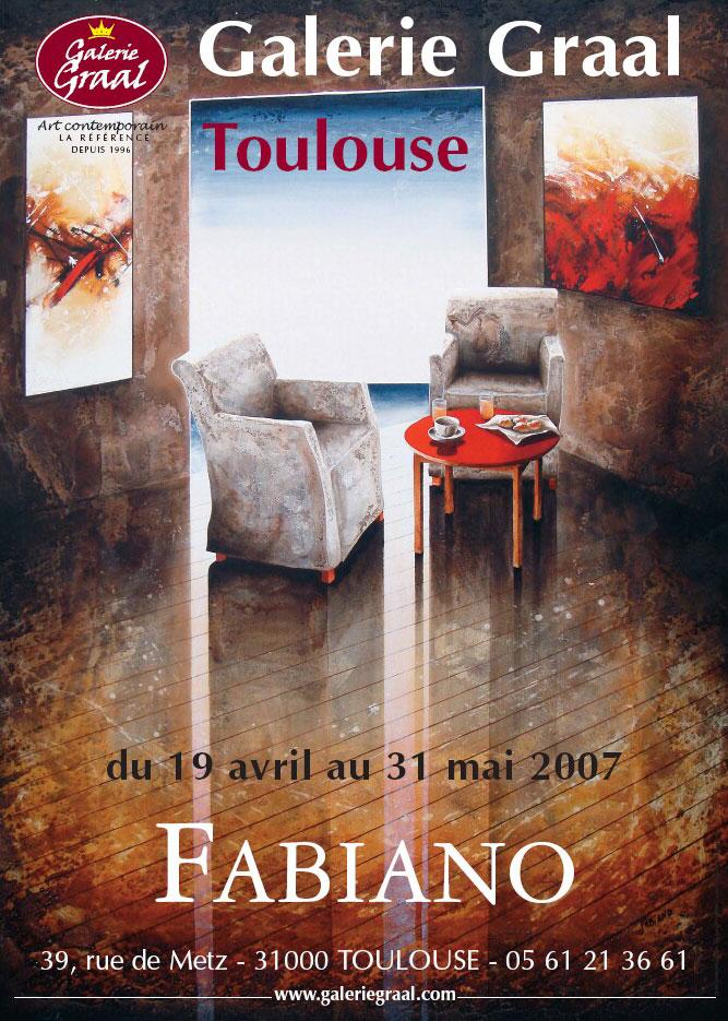Affiche de l'exposition des peinture de Fabiano