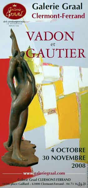 Affiche de l'exposition de peinture de VADON GAUTIER