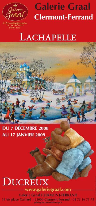 Affiche de l'exposition de peinture de Affiche de l'exposition de peinture de Charlotte Lachapelle et des sculptures de ducreux