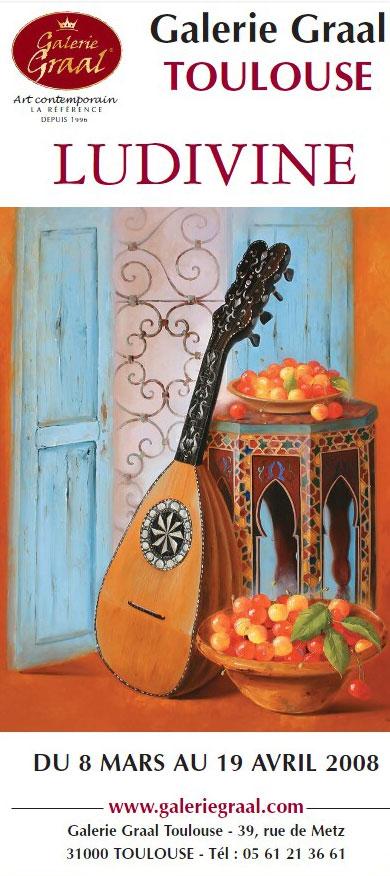 Affiche de l'exposition de peinture Ludivine