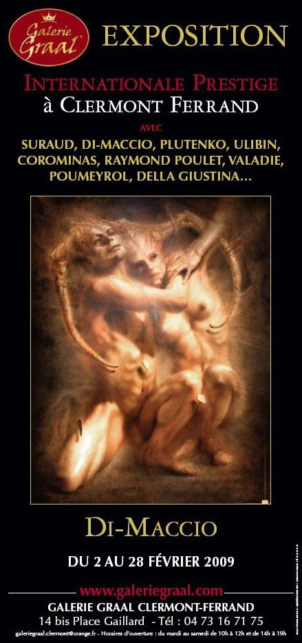 Affiche de l'exposition de peinture de Gérard Di-Maccio