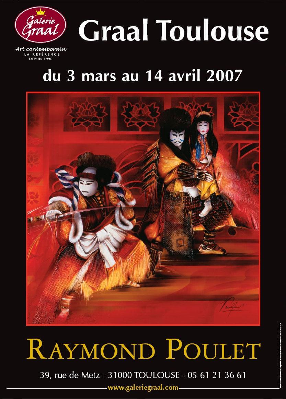 Affiche de l'exposition de peinture de Raymond Poulet