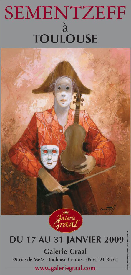 Affiche de l'exposition de peinture de Sementzeff