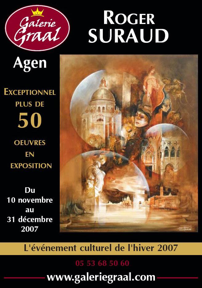 Affiche de l'exposition de peinture de Roger Suraud