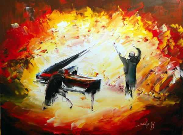 Artiste peintre daniel densborn galerie d 39 art contemporain - Peinture au couteau huile ...