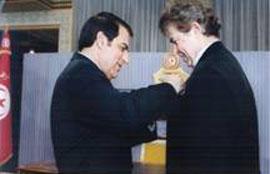 Gérard Di-maccio et le président de la Tunisie