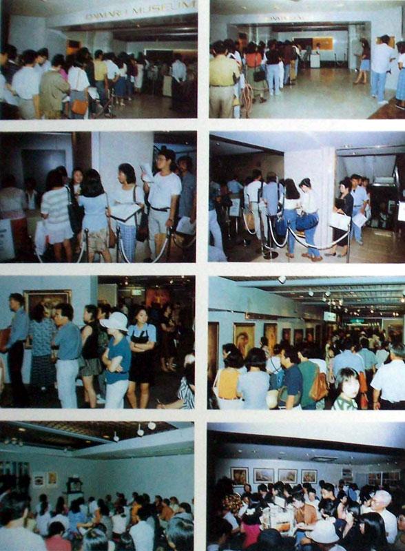 Exposition de Gérard DI-MACCIO au Japon en 1992