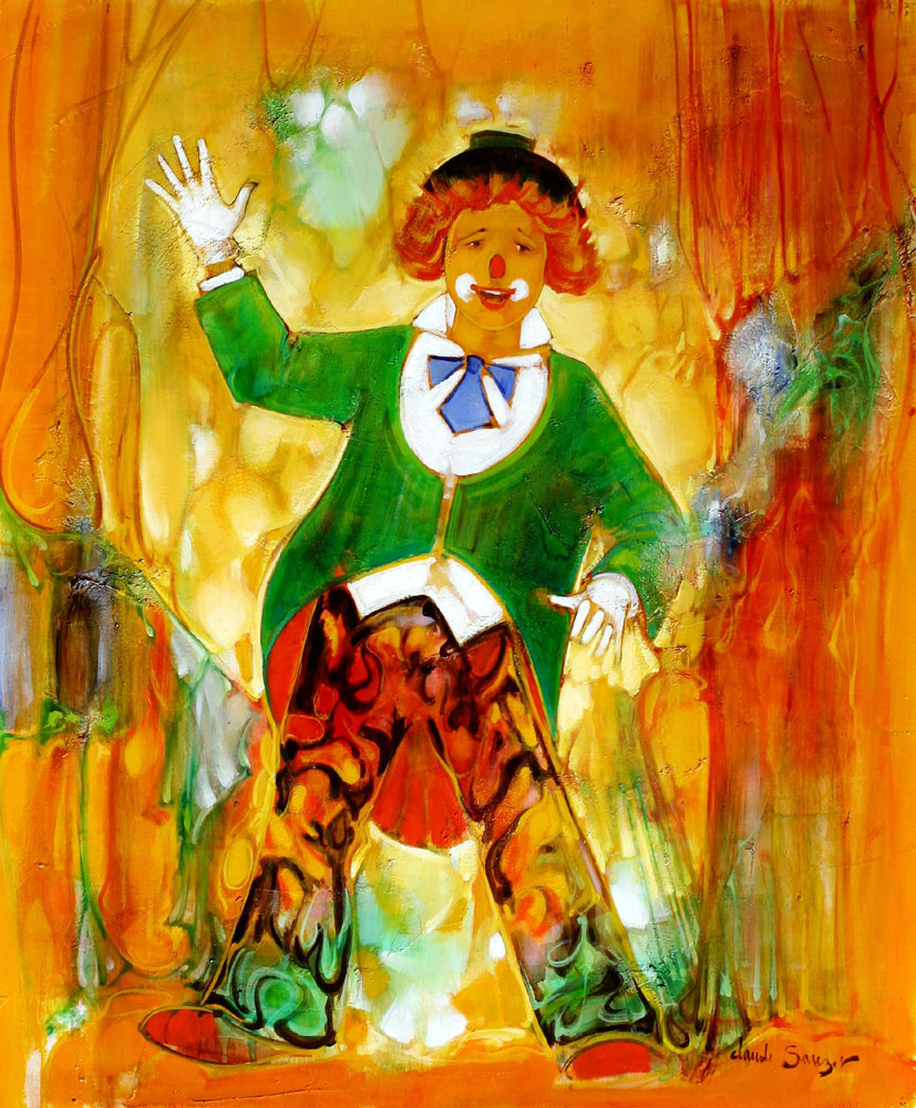 Peinture de Claude SAUZET : Clown