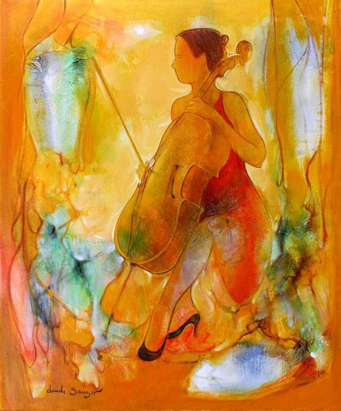 Sauzet : peinture