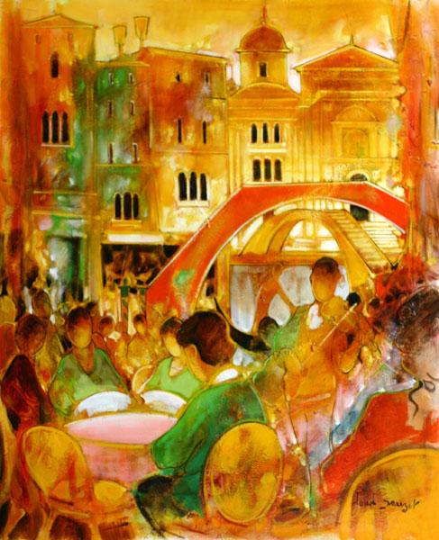 Peinture de venise : Claude SAUZET
