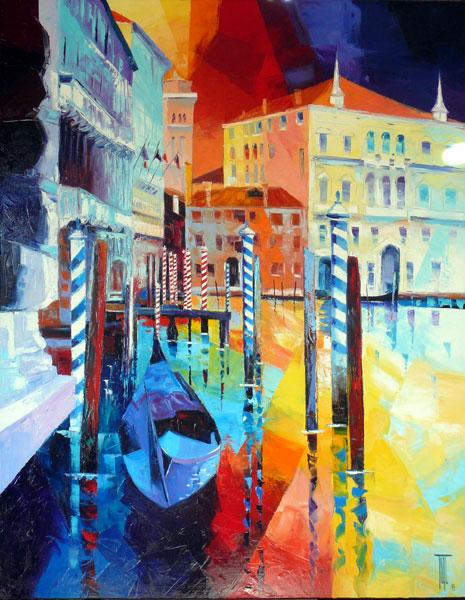 Peinture de Venise de l'artiste Pierrick TUAL