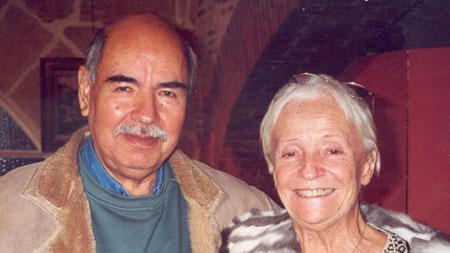 Mario Vargas et son épouse