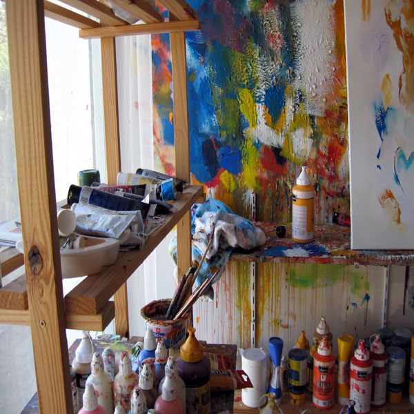 Atelier de l'artiste Thierry ZDZIEBLO