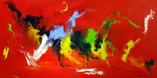 Tableau abstrait de l'artiste contemporain ZDZIEBLO