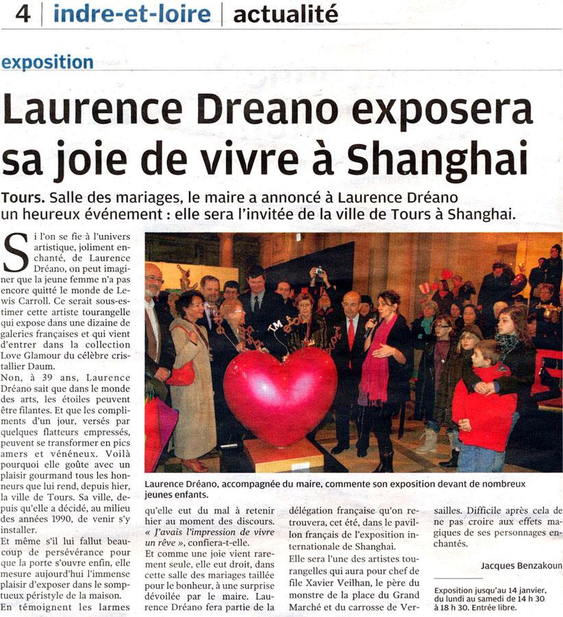 Article de presse sur Laurence DREANO
