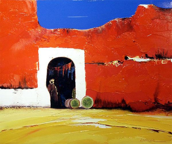 galerie graal galeries d 39 art contemporain peinture christian eurgal ocre rouge. Black Bedroom Furniture Sets. Home Design Ideas
