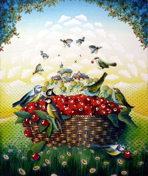 Galerie graal galeries d 39 art contemporain peinture - Vers dans les cerises ...