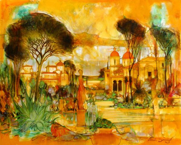 Galerie graal galeries d 39 art contemporain peinture for Jardin italien