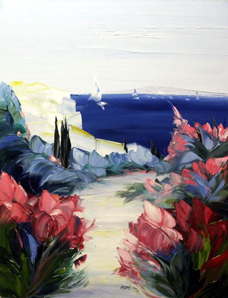 galerie art contemporain peinture veronique vadon bord de mer