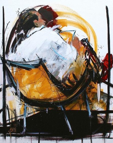 Galerie Graal - Galeries d'art contemporain - PEINTURE : DAVID JAMIN - LECTEUR