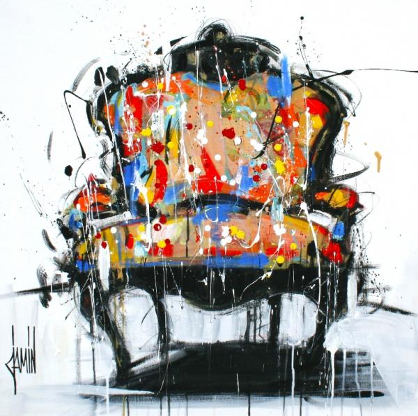 Galerie Graal - Galeries d'art contemporain - PEINTURE : DAVID JAMIN - FAUTEUIL