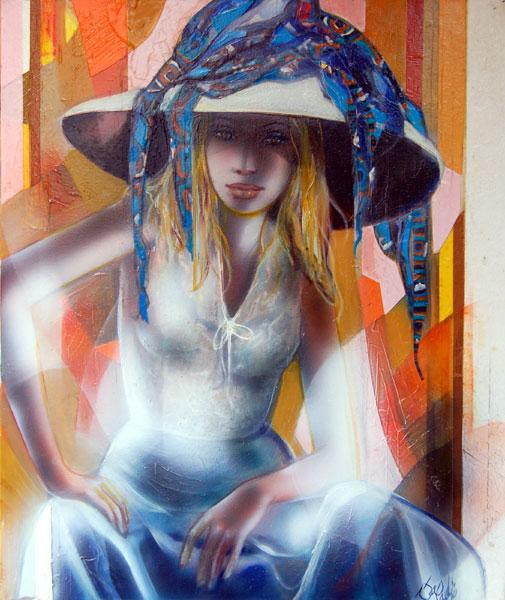Peinture nu de l'artiste Valadié