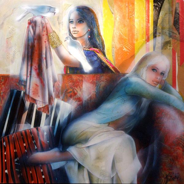 Peinture del'artiste Valadié